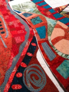 Two bits of a vessel, as yet unquilted