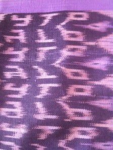 Traditional ikat weave
