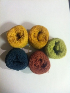Hand dyed hand spun cotton yarn from Timor