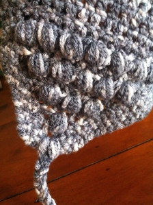 Made up slouchy hat: detail