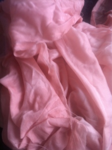 The fabric after rinsing.
