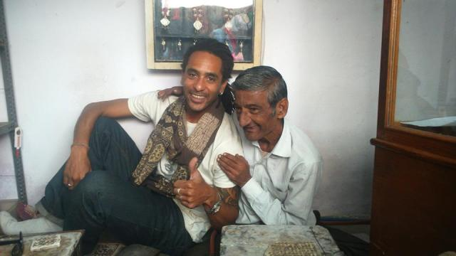 India Bhuj Amrat silversmith father and son