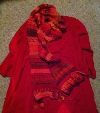 Red-orange scarf - 1 (10)