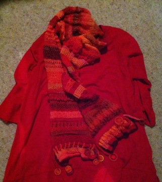 Red-orange scarf - 1 (10)