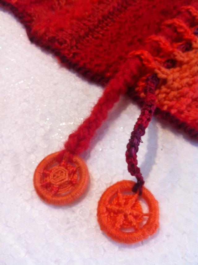 Red-orange scarf - 1