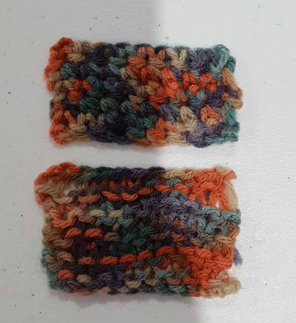 Knitting comparison with crochet